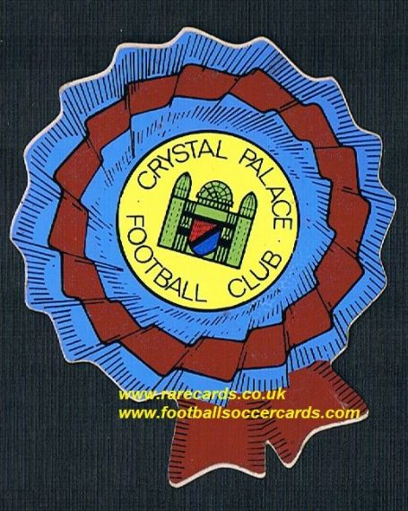 1974 BAB Crystal Palace rosette  PVC sticker with backing paper